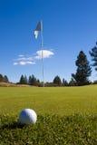 Close up da esfera de golfe Imagem de Stock Royalty Free