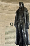 Close up da estátua de Thomas Jefferson Foto de Stock Royalty Free