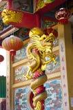 Close up da estátua do dragão do estilo chinês Fotografia de Stock Royalty Free