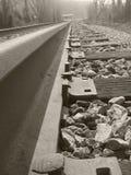 Close up da estrada de ferro Imagens de Stock