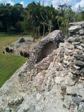 Close up da estrutura maia do arco das ruínas de Kohunlich imagem de stock