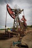 Close up da exploração petrolífera Fotos de Stock
