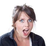 Close-up da expressão de choque e da surpresa Fotografia de Stock Royalty Free