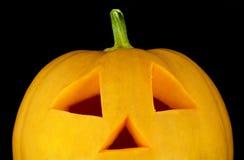 Close up da face da abóbora de Halloween Imagem de Stock
