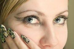 Close-up da face da beleza imagens de stock