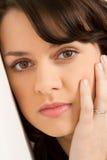 Close-up da face da menina Fotos de Stock Royalty Free