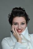 Close up da face da menina fotografia de stock royalty free