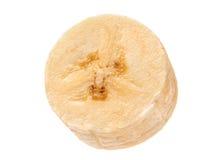 Close up da fatia da banana Imagem de Stock Royalty Free