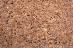 Close up da fatia de pão de centeio marrom Imagem de Stock Royalty Free