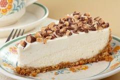 Close up da fatia do bolo de queijo Foto de Stock
