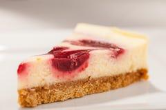 Close up da fatia do bolo de queijo Imagem de Stock Royalty Free