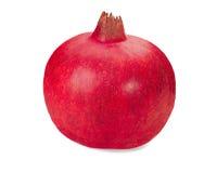 Close up da fruta da romã isolado no branco Imagem de Stock Royalty Free