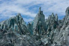 Picos da geleira do Fox Fotografia de Stock