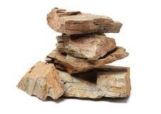 Close up da grande protuberância da rocha com minerais Imagens de Stock Royalty Free
