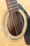 Close-up da guitarra clássica acústica Imagens de Stock