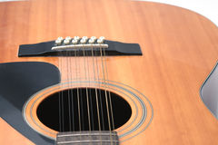 Close up da guitarra do soundhole, b Fotos de Stock Royalty Free