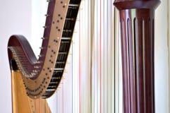 Close up da harpa do pedal Fotos de Stock Royalty Free