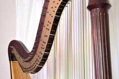 Close up da harpa do pedal Foto de Stock Royalty Free