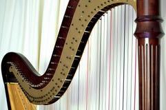 Close up da harpa do pedal Imagem de Stock