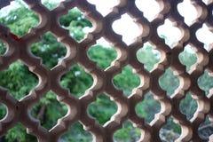 Close up da janela da pedra Carved foto de stock royalty free