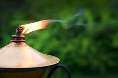 Close-up 1 da lâmpada de óleo Iluminação do jardim foto de stock