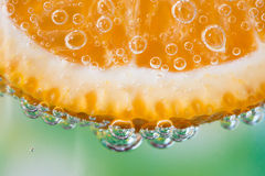 Close-up da laranja Fotos de Stock Royalty Free