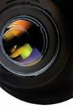 Close up da lente e da capa imagens de stock royalty free