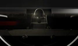 Close up da máquina de escrever Imagens de Stock Royalty Free