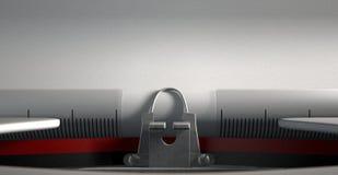 Close up da máquina de escrever Imagens de Stock