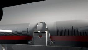 Close up da máquina de escrever Foto de Stock