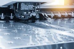 Close-up da máquina de perfuração do CNC Fotografia de Stock