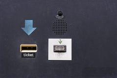 Close-Up da máquina do bilhete Imagens de Stock Royalty Free