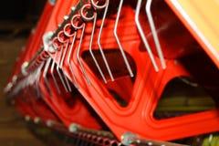 Close up da maquinaria de colheita Imagens de Stock Royalty Free