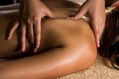 Close up da massagem fotografia de stock