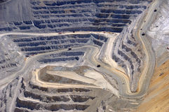 Close-up da mina de cobre de Bingham Kennecott