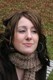Close up da mulher ao ar livre Imagens de Stock