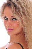 Close-up da mulher bonita Imagem de Stock