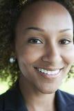 Close up da mulher de negócios Outdoors foto de stock
