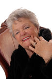 Close up da mulher superior que tem o divertimento Imagens de Stock Royalty Free