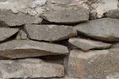 Close-up da parede de pedra fotografia de stock
