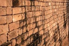 Close-up da parede de tijolo imagens de stock royalty free