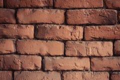 Close up da parede de tijolo vermelho Fundo velho da textura da parede de tijolo vermelho imagem de stock royalty free