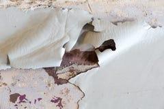 Close up da parede pintada casca Imagem de Stock