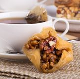 Close up da pastelaria do Baklava Imagens de Stock