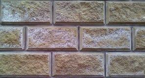 Close-up da peça da parede de tijolos decorativos foto de stock
