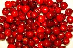 Close-up da pilha de cerejas maduras Fundo maduro das cerejas Fotos de Stock Royalty Free