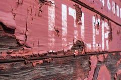 Close up da pintura da casca com tensor da palavra Imagem de Stock Royalty Free