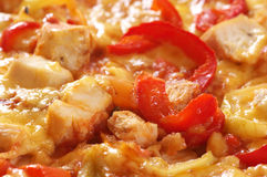 Close-up da pizza Fotografia de Stock