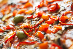 Close up da pizza Fotografia de Stock Royalty Free