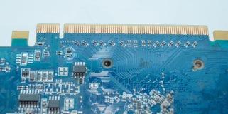 Close up da placa de circuito foto de stock royalty free